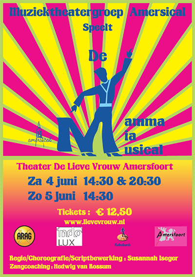 Flyer for Mamma Mia, the musical